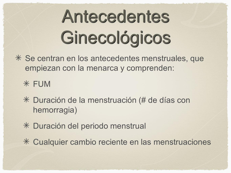 Antecedentes Ginecológicos