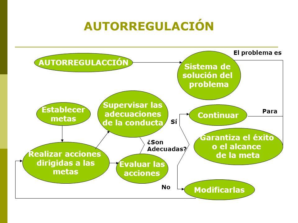 AUTORREGULACIÓN AUTORREGULACCIÓN Sistema de solución del problema