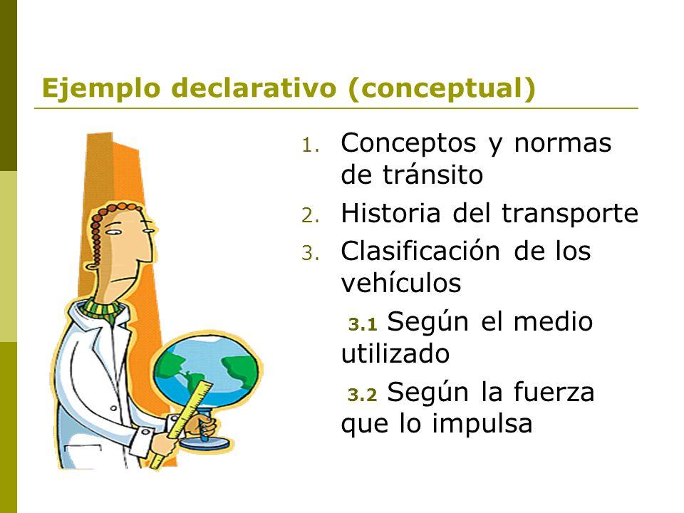 Ejemplo declarativo (conceptual)