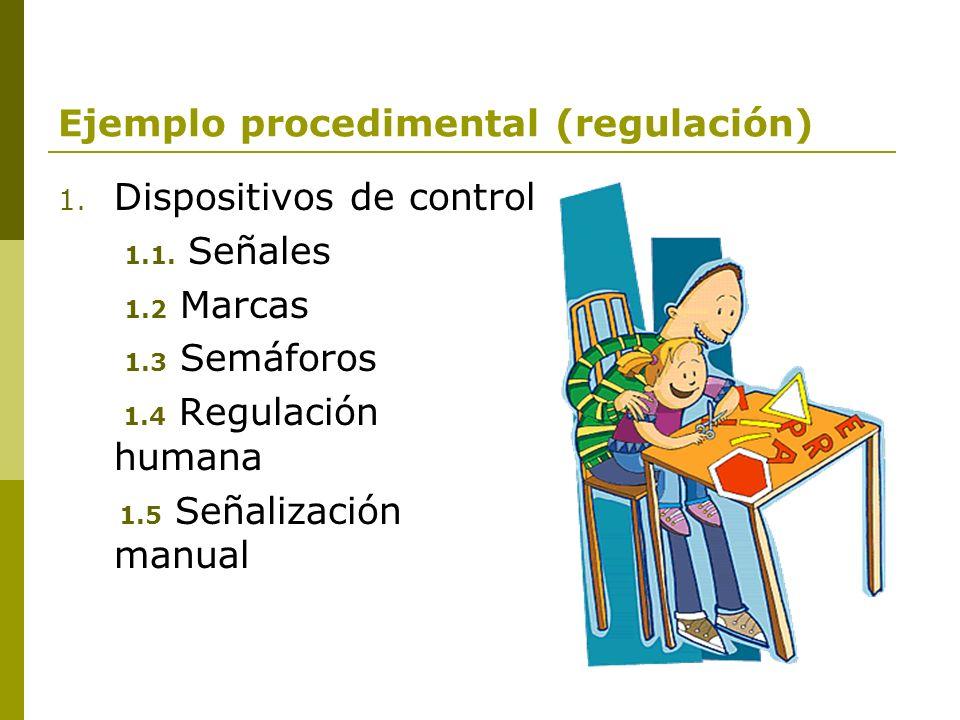 Ejemplo procedimental (regulación)