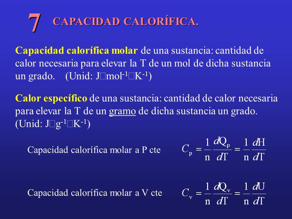 7 CAPACIDAD CALORÍFICA.