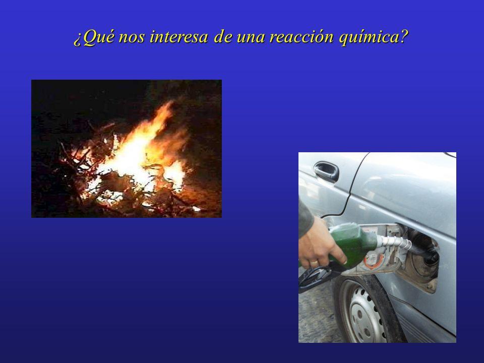 ¿Qué nos interesa de una reacción química