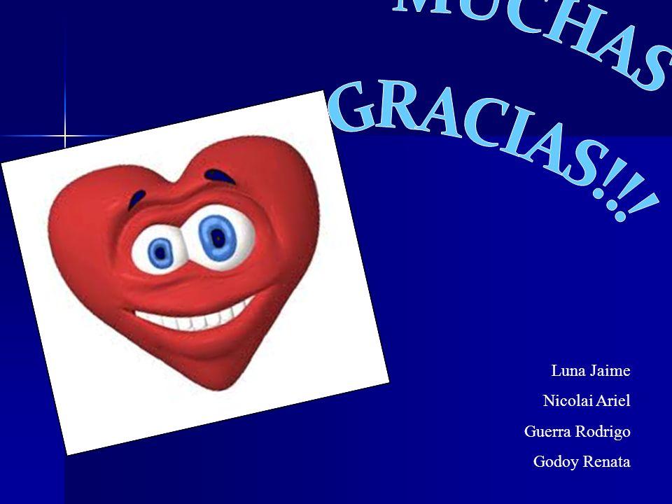 MUCHAS GRACIAS!!! Luna Jaime Nicolai Ariel Guerra Rodrigo Godoy Renata