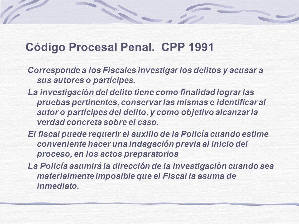 Código Procesal Penal. CPP 1991