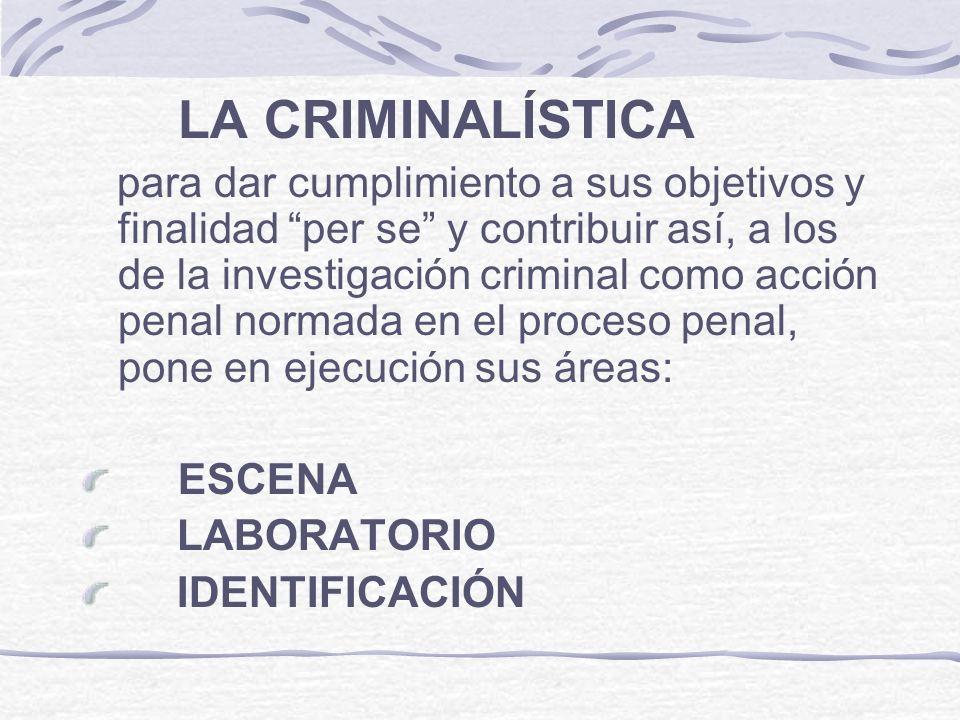 LA CRIMINALÍSTICA