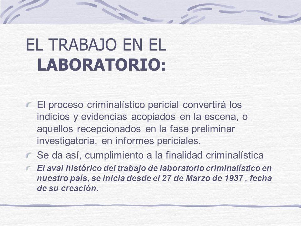 EL TRABAJO EN EL LABORATORIO: