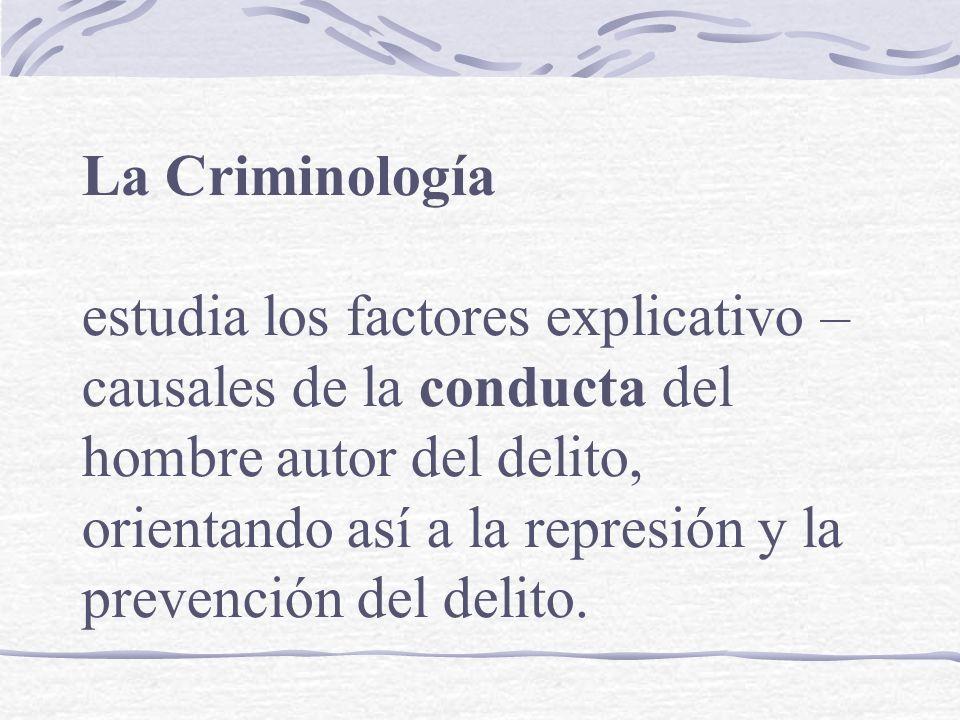 La Criminología