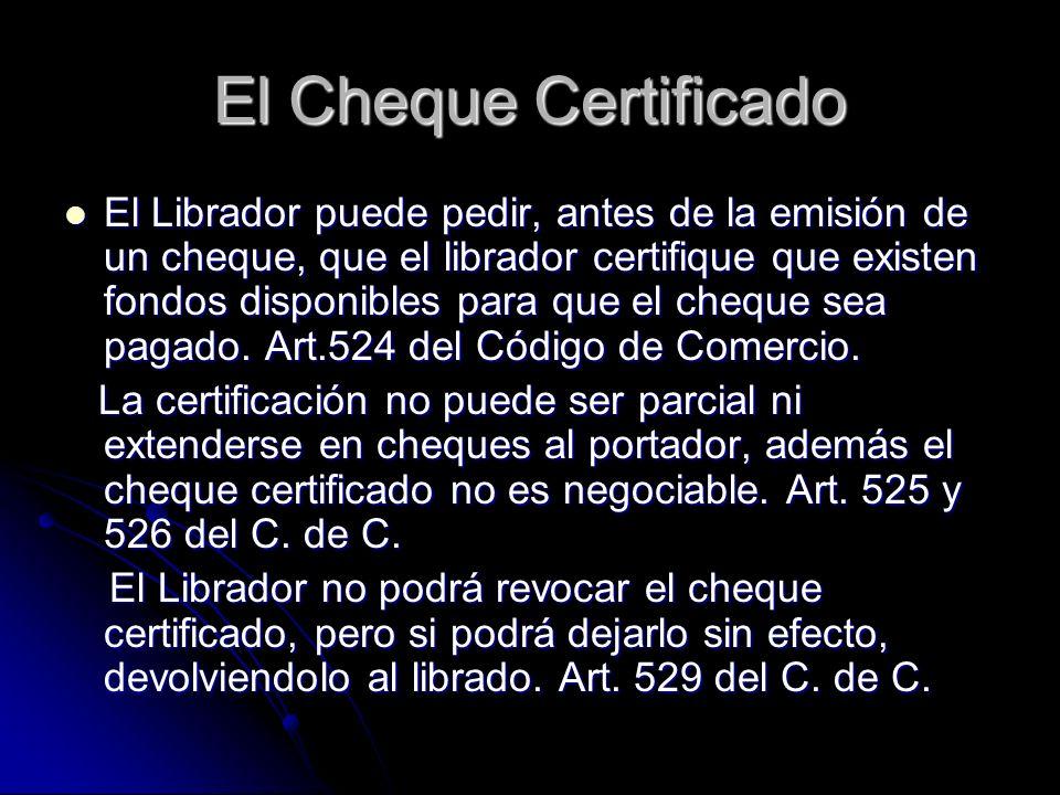 El Cheque Certificado