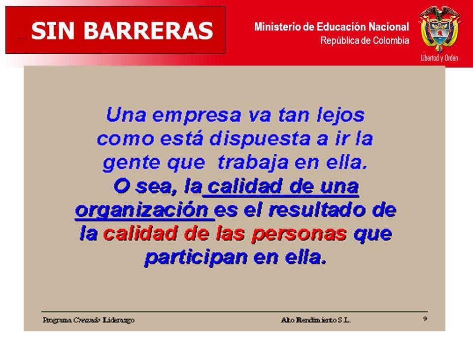 … SIN BARRERAS