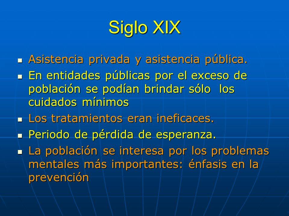 Siglo XIX Asistencia privada y asistencia pública.