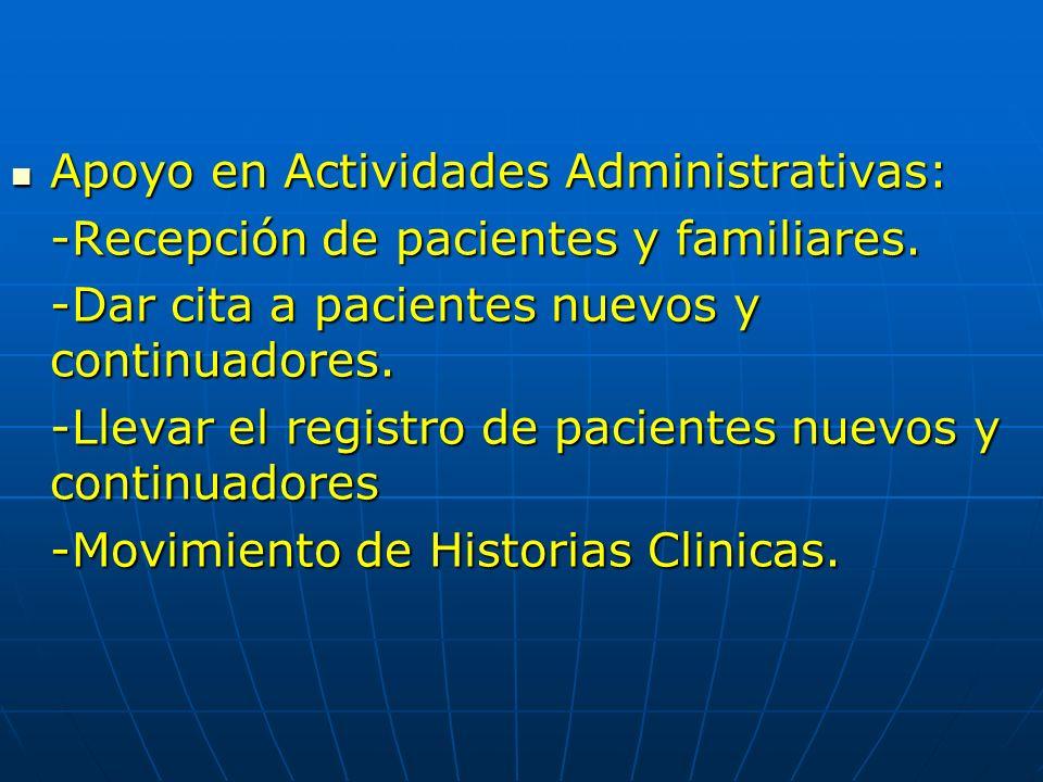 Apoyo en Actividades Administrativas: