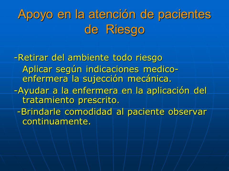 Apoyo en la atención de pacientes de Riesgo
