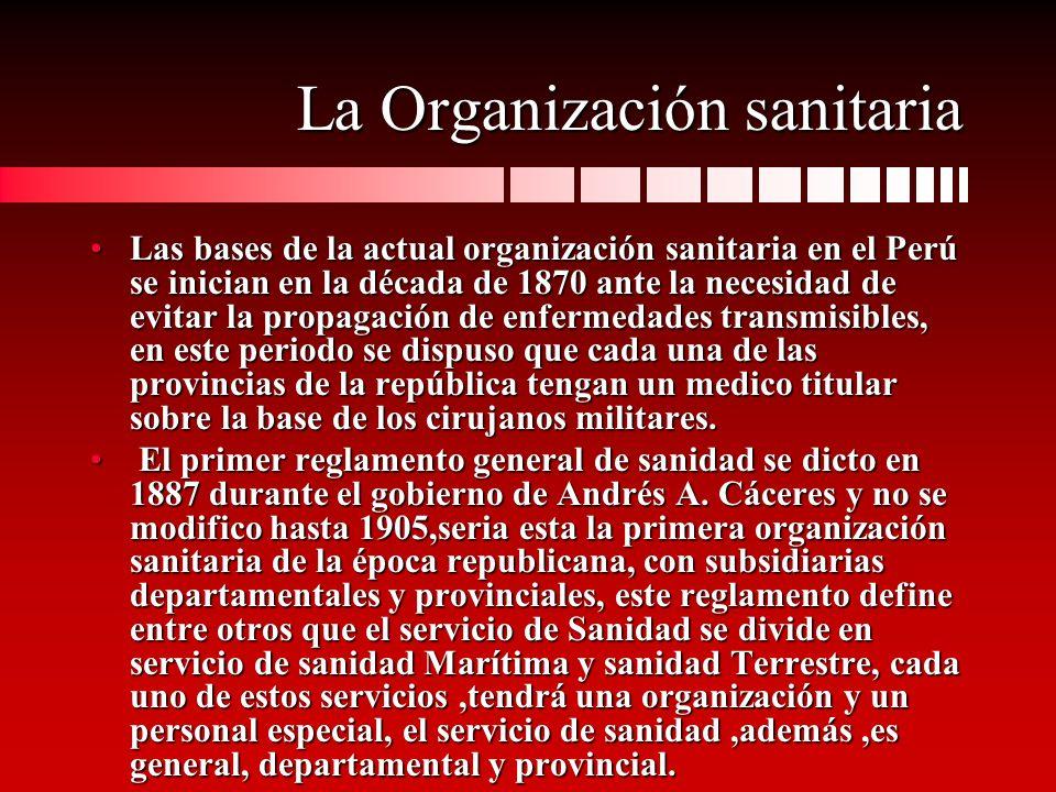 La Organización sanitaria