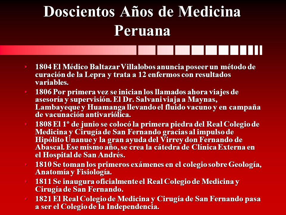 Doscientos Años de Medicina Peruana