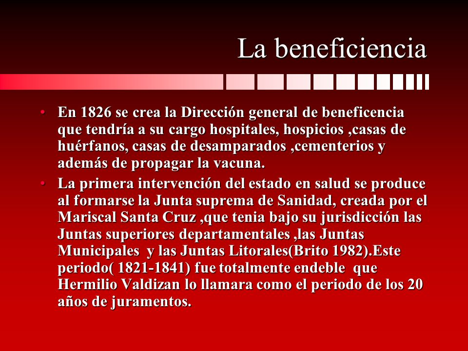 La beneficiencia