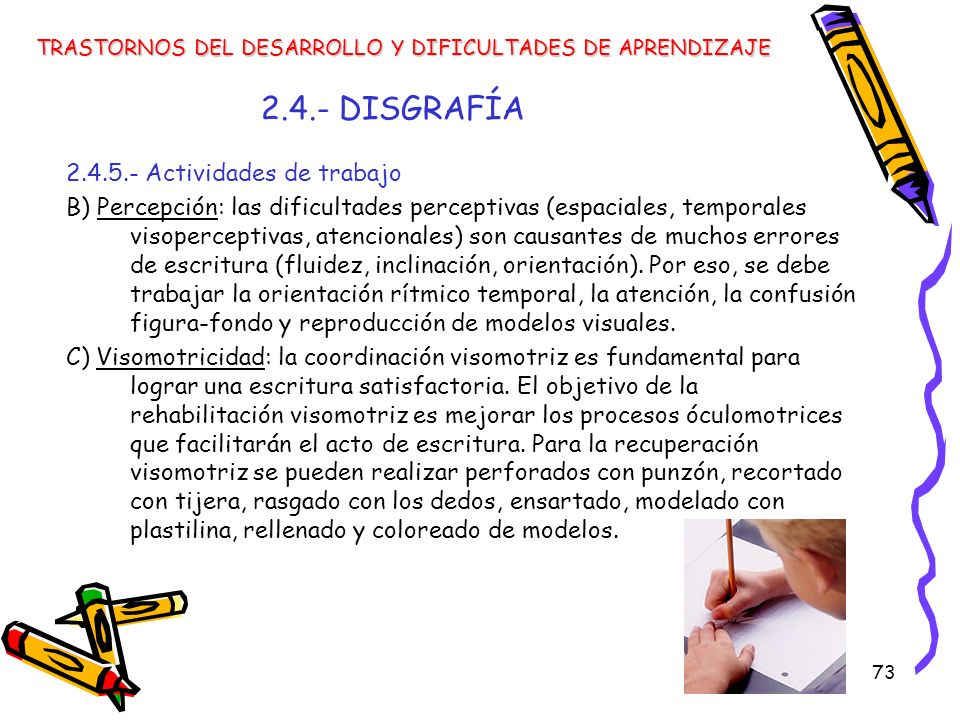 2.4.- DISGRAFÍA 2.4.5.- Actividades de trabajo
