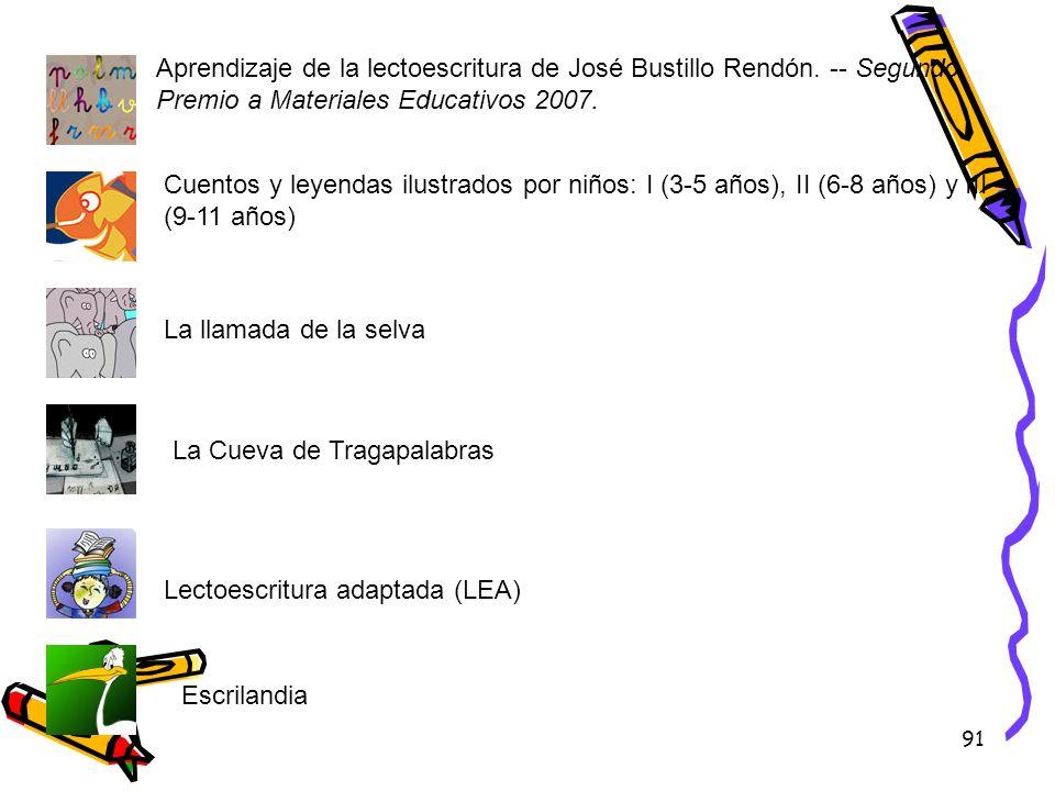 Aprendizaje de la lectoescritura de José Bustillo Rendón
