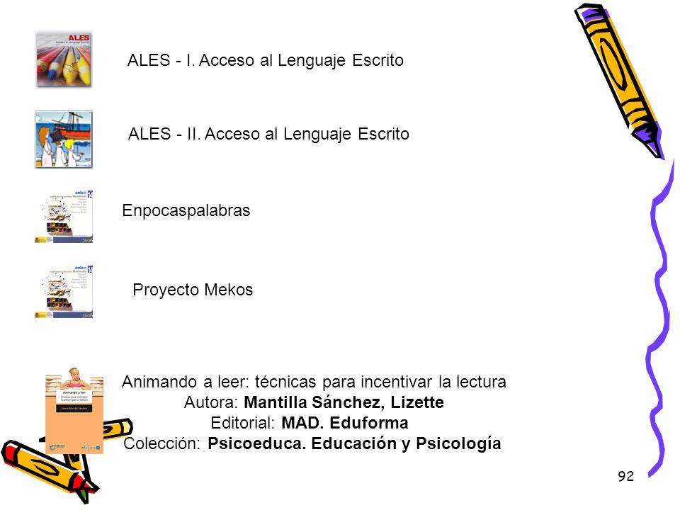 ALES - I. Acceso al Lenguaje Escrito