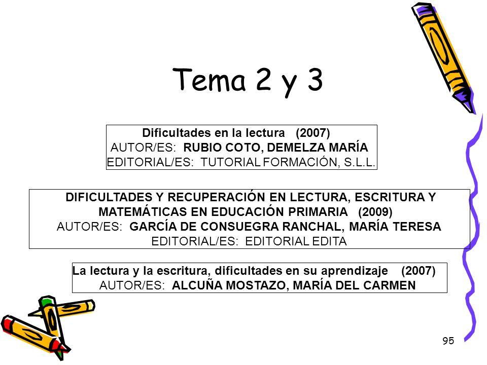 Tema 2 y 3 Dificultades en la lectura (2007)