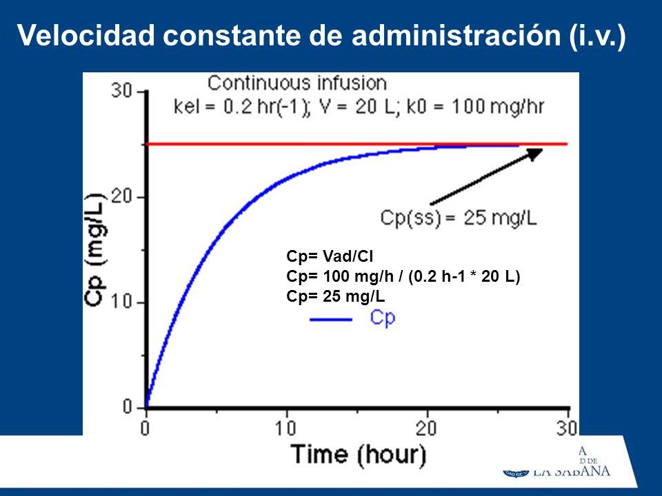 Velocidad constante de administración (i.v.)