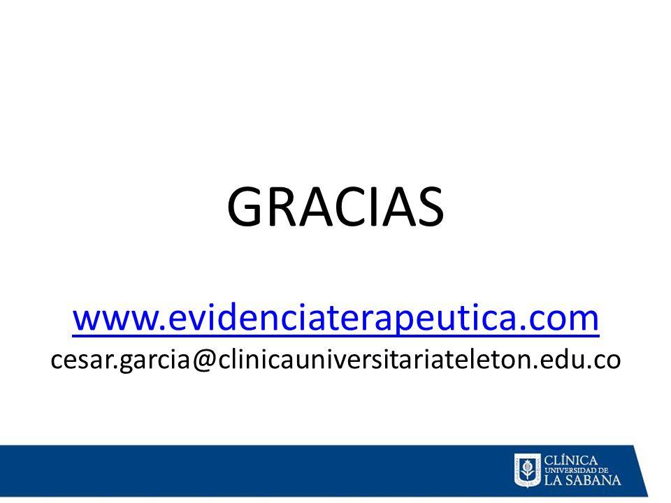 GRACIAS www. evidenciaterapeutica. com cesar