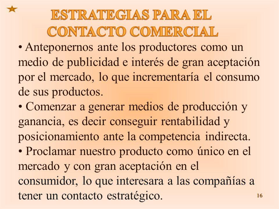ESTRATEGIAS PARA EL CONTACTO COMERCIAL