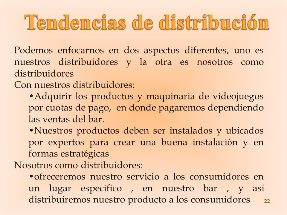 Tendencias de distribución