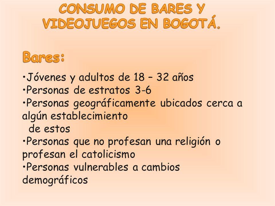 CONSUMO DE BARES Y VIDEOJUEGOS EN BOGOTÁ.