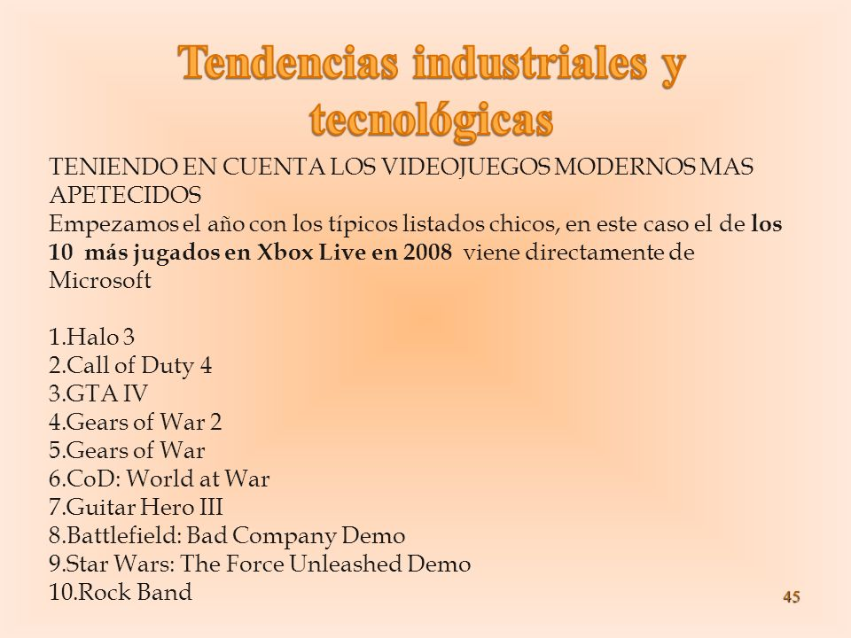 Tendencias industriales y