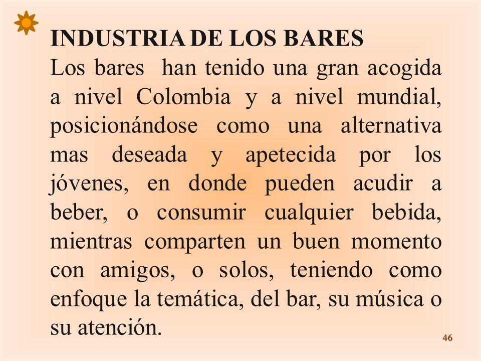 INDUSTRIA DE LOS BARES