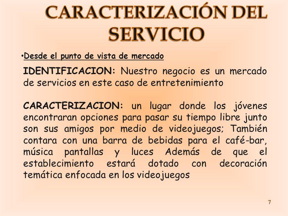 SERVICIO CARACTERIZACIÓN DEL