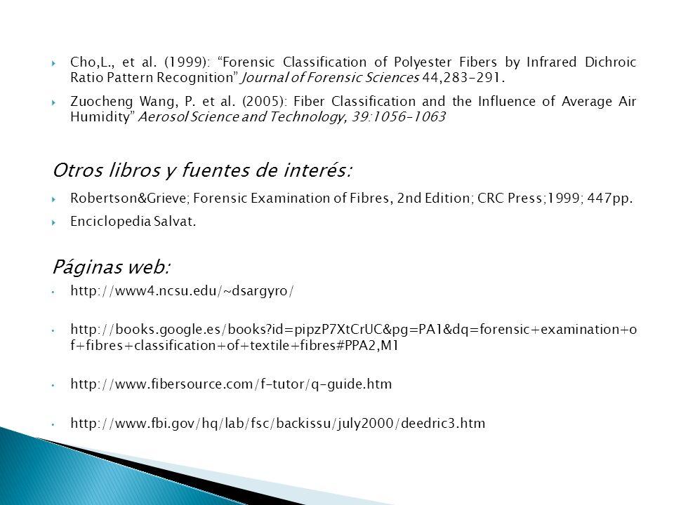 Otros libros y fuentes de interés:
