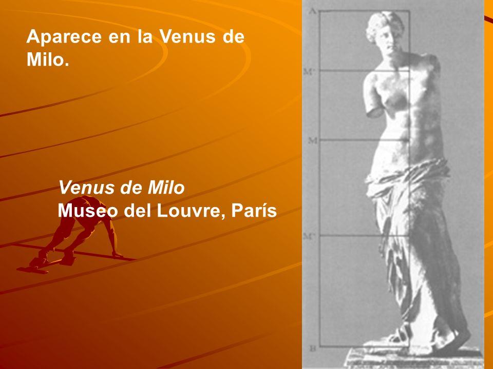Aparece en la Venus de Milo.