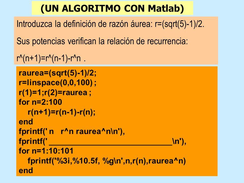 (UN ALGORITMO CON Matlab)