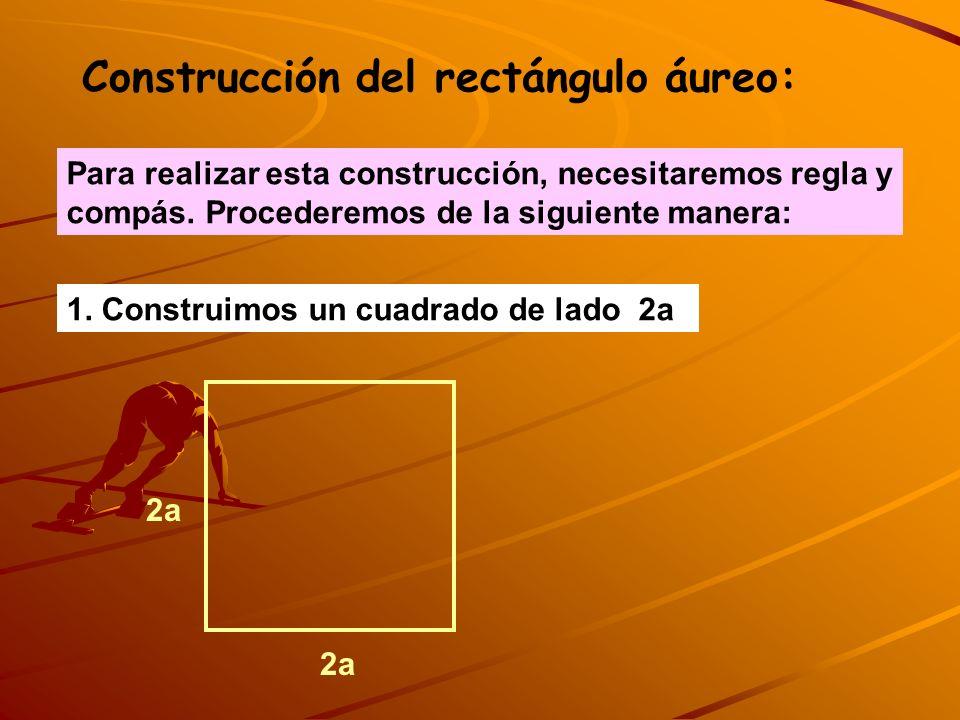 Construcción del rectángulo áureo: