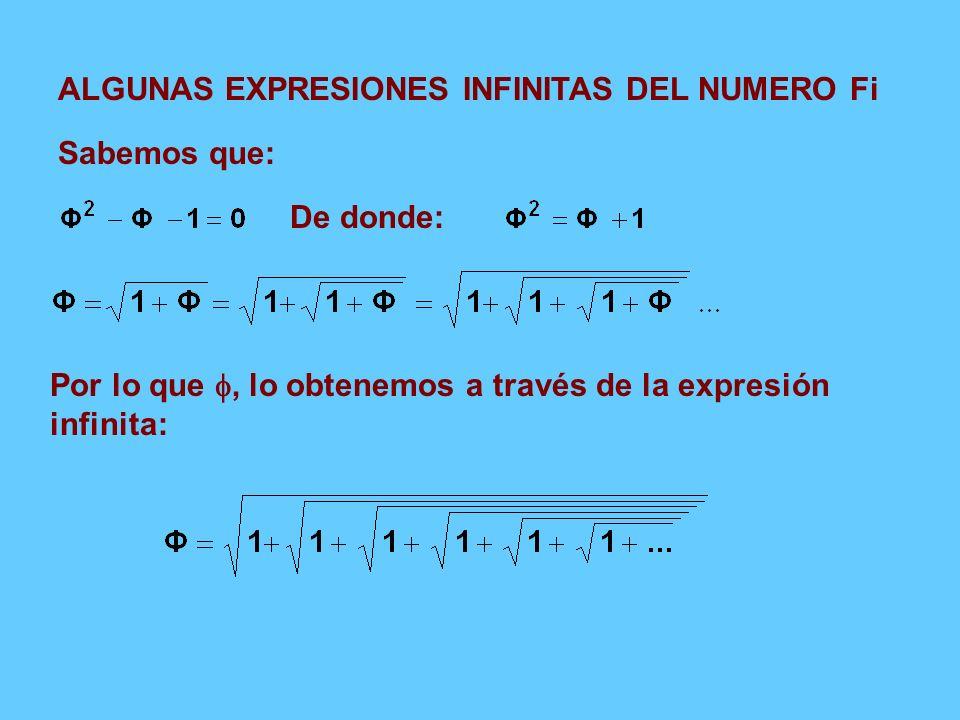 ALGUNAS EXPRESIONES INFINITAS DEL NUMERO Fi
