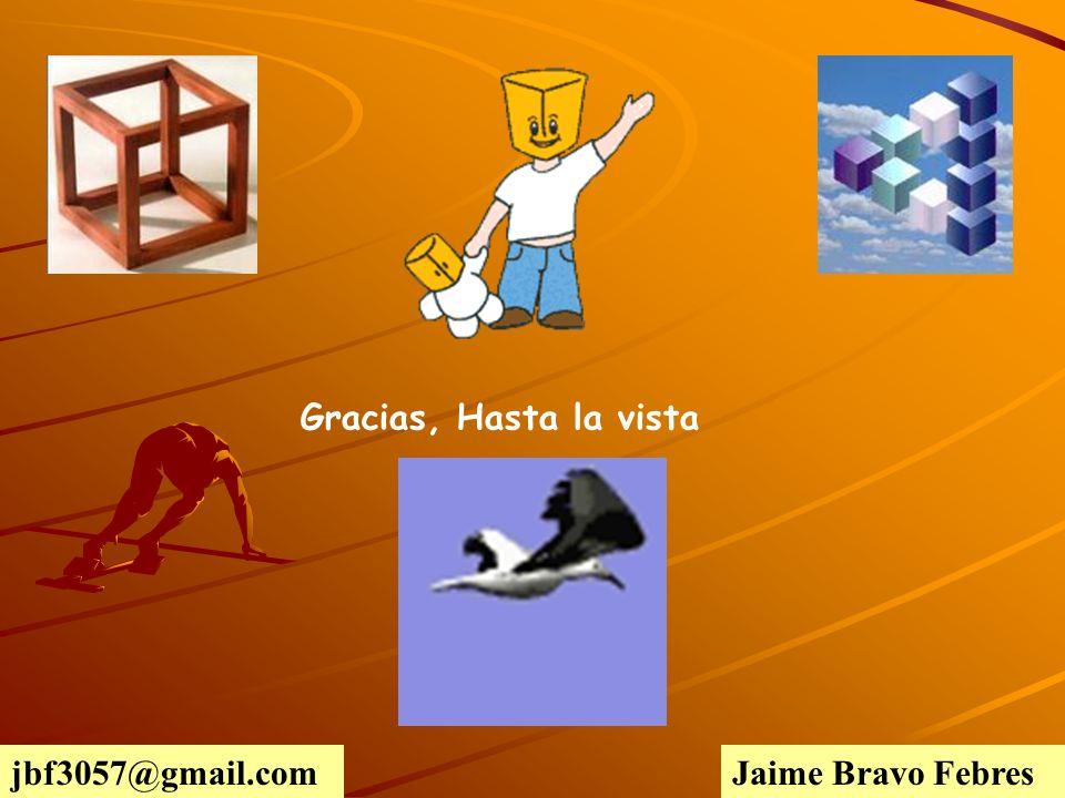 Gracias, Hasta la vista jbf3057@gmail.com Jaime Bravo Febres
