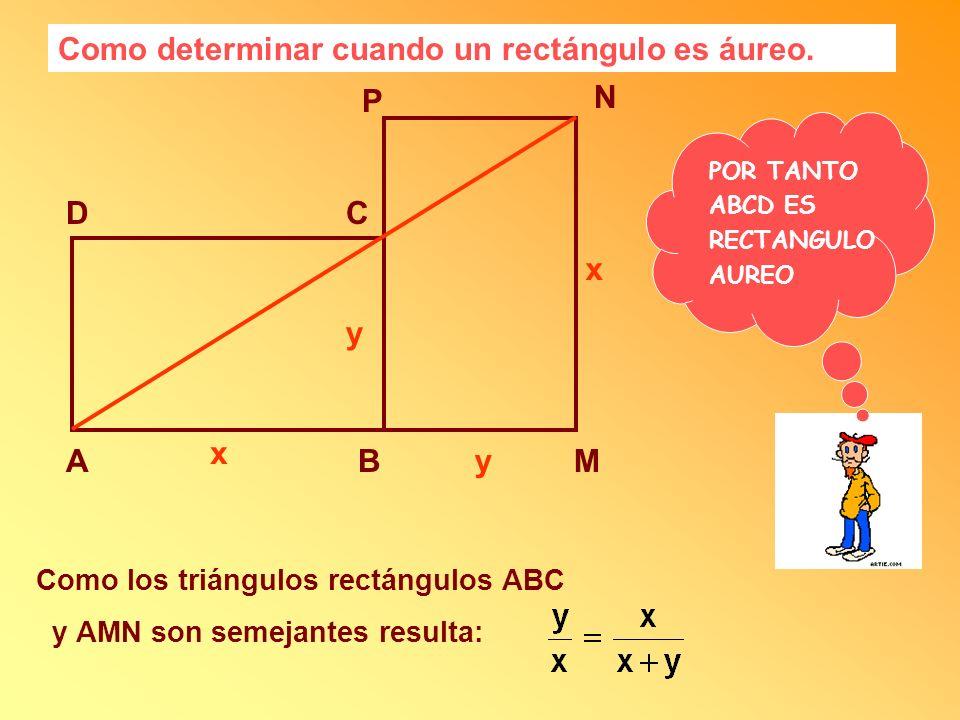 Como determinar cuando un rectángulo es áureo.
