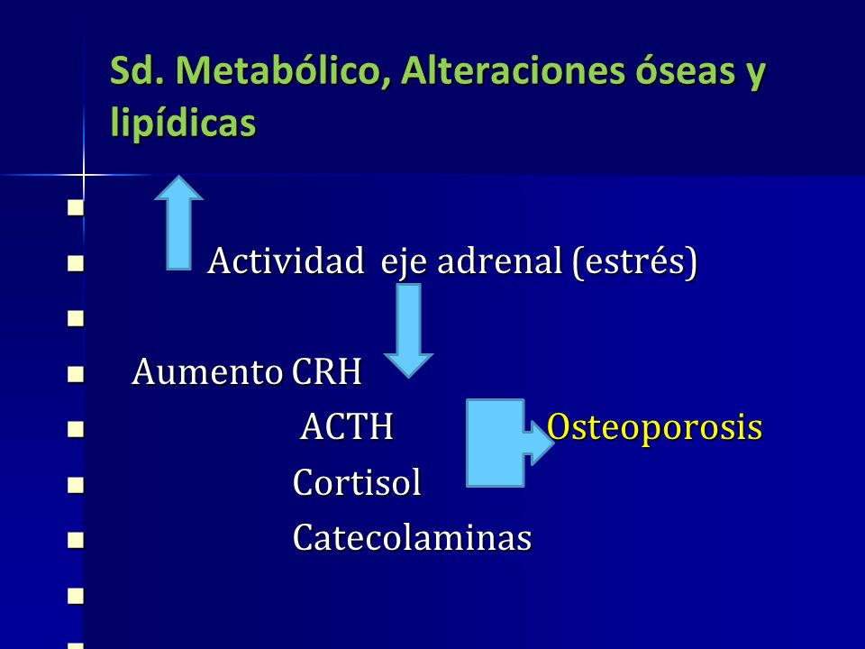 Sd. Metabólico, Alteraciones óseas y lipídicas