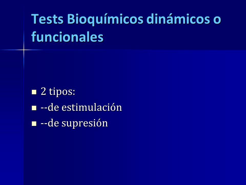 Tests Bioquímicos dinámicos o funcionales