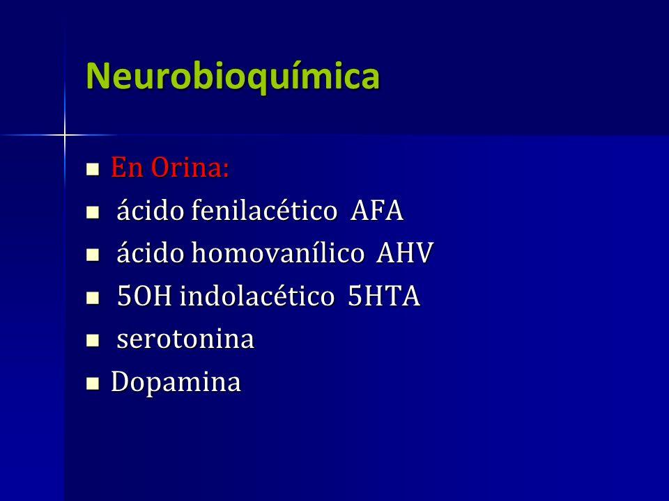 Neurobioquímica En Orina: ácido fenilacético AFA