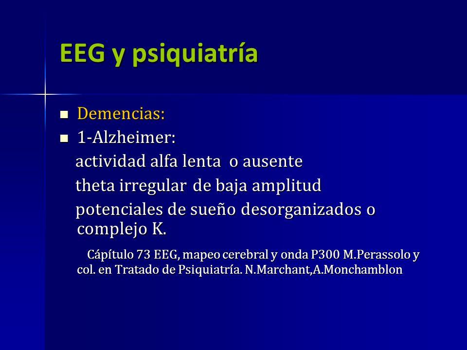 EEG y psiquiatría Demencias: 1-Alzheimer: