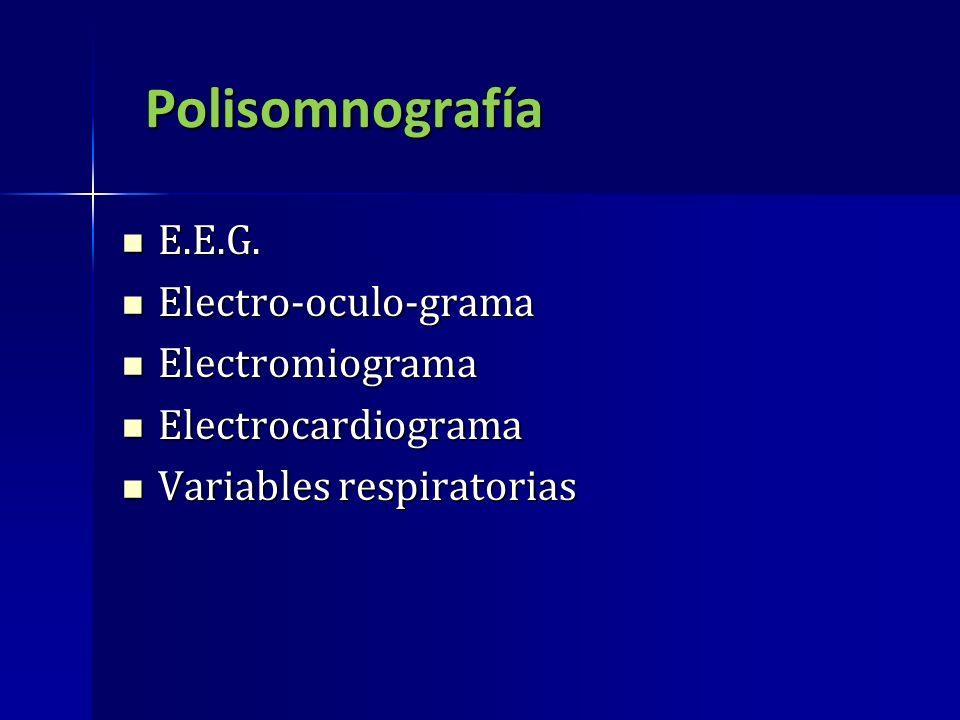 Polisomnografía E.E.G. Electro-oculo-grama Electromiograma
