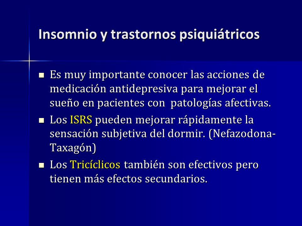 Insomnio y trastornos psiquiátricos