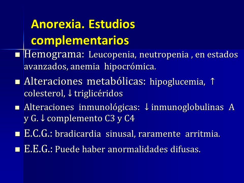 Anorexia. Estudios complementarios