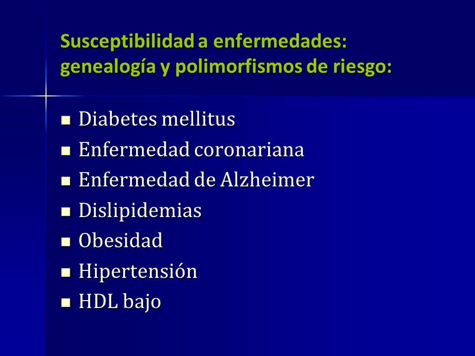Susceptibilidad a enfermedades: genealogía y polimorfismos de riesgo: