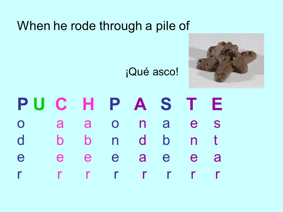 P U C H P A S T E o a a o n a e s d b b n d b n t e e e e a e e a