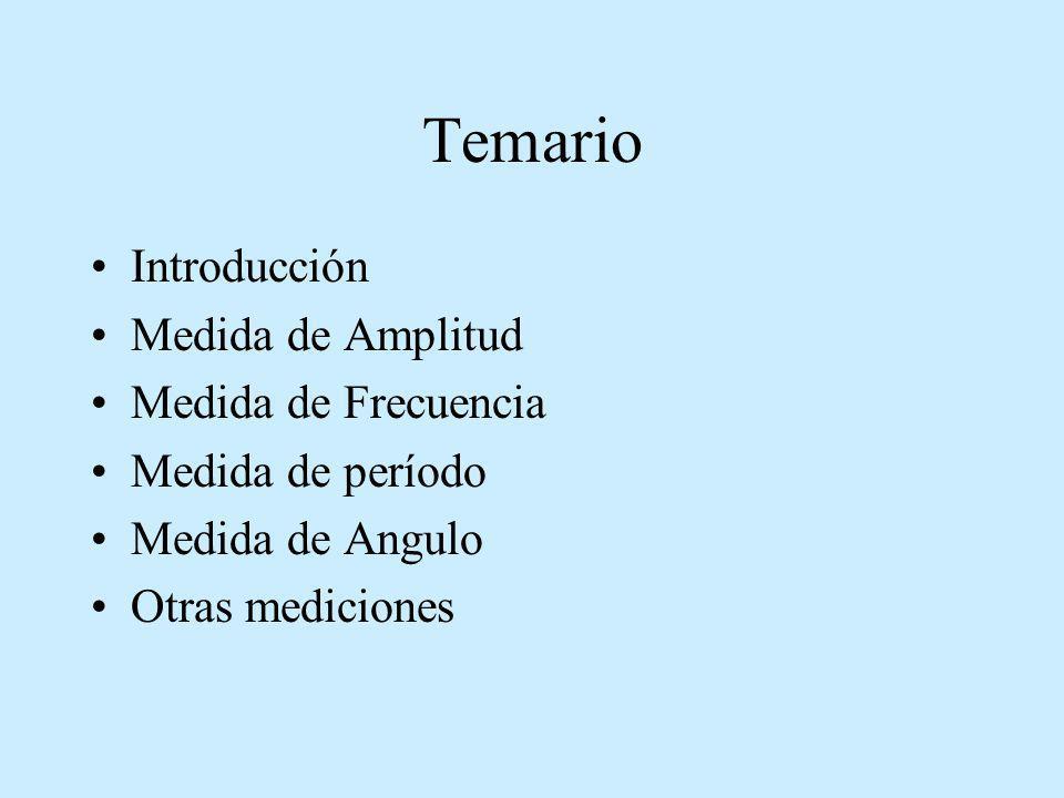 Temario Introducción Medida de Amplitud Medida de Frecuencia
