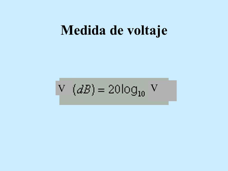 Medida de voltaje V V