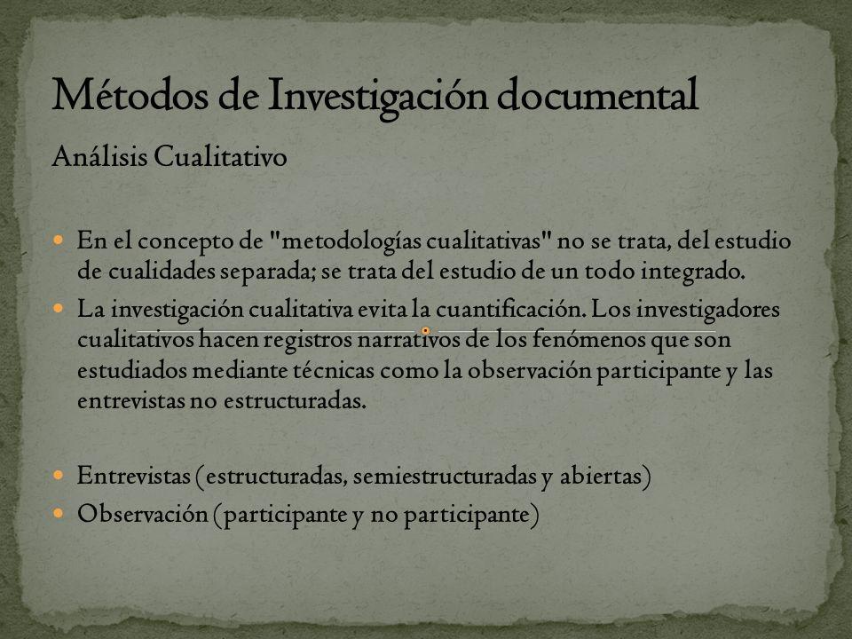 Métodos de Investigación documental